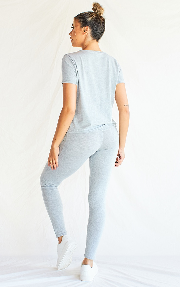 Grey T-Shirt & Legging Set 2