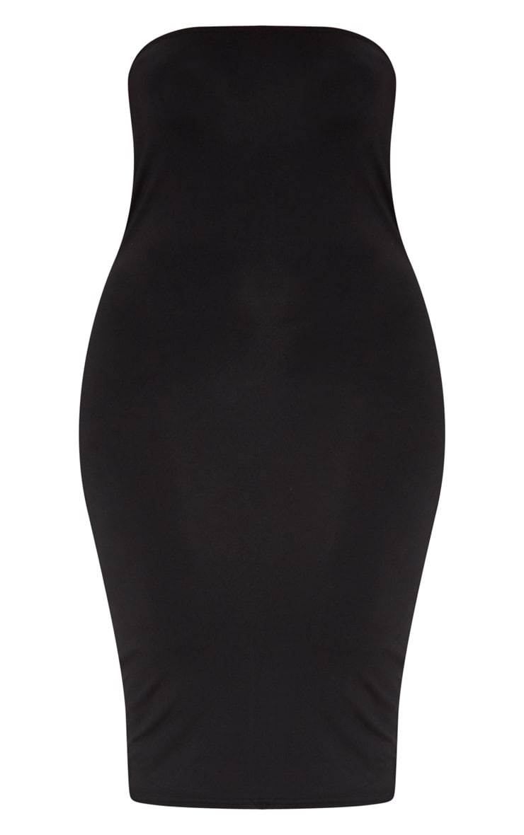 Plus Black Jersey Bandeau Midi Dress 3