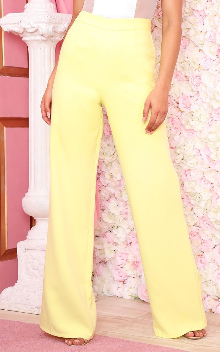 Neon Lime Wide Leg Suit Pants 2