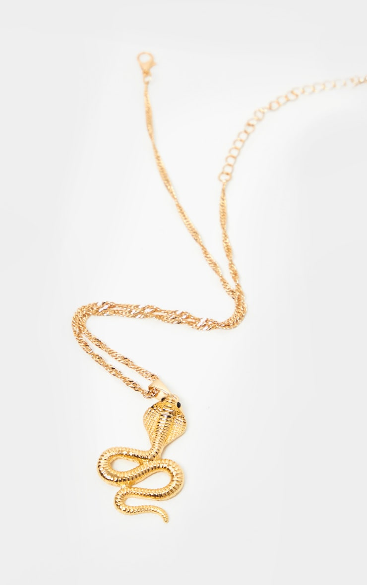 Gold Pendant Snake Necklace 3
