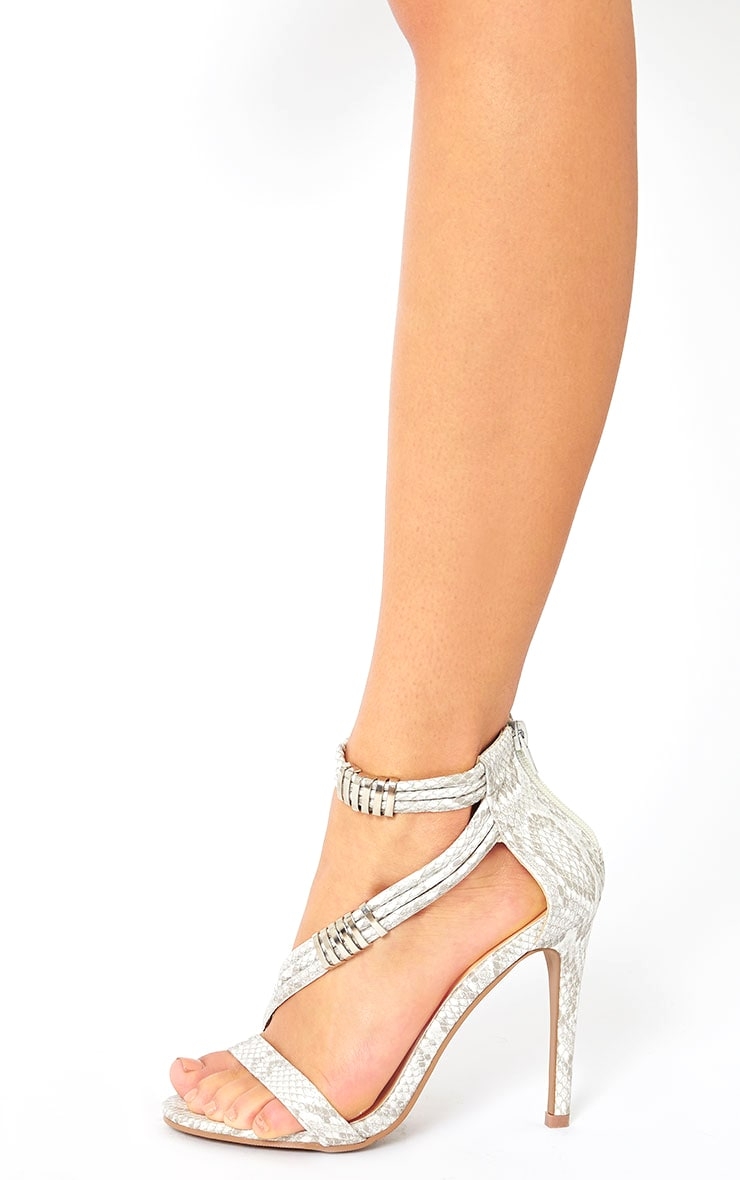 Riley Snake Cross Strap Heeled Sandals 2