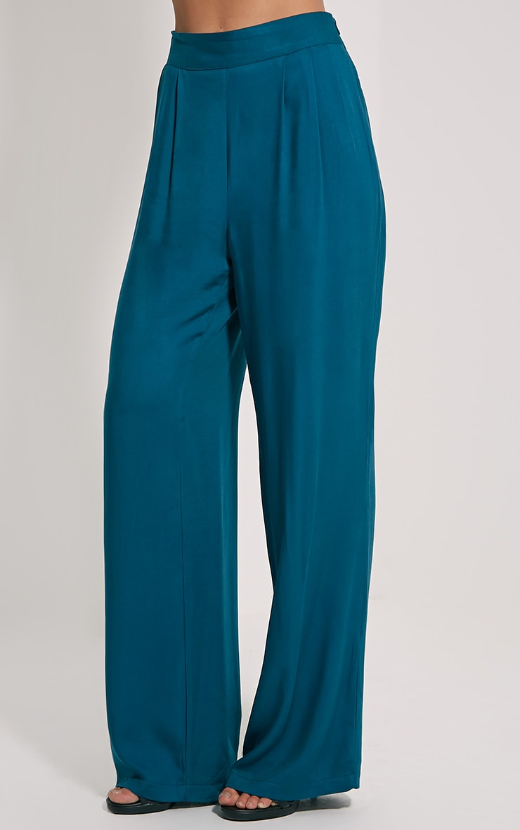 Posey Teal Relax Fix Trousers 3