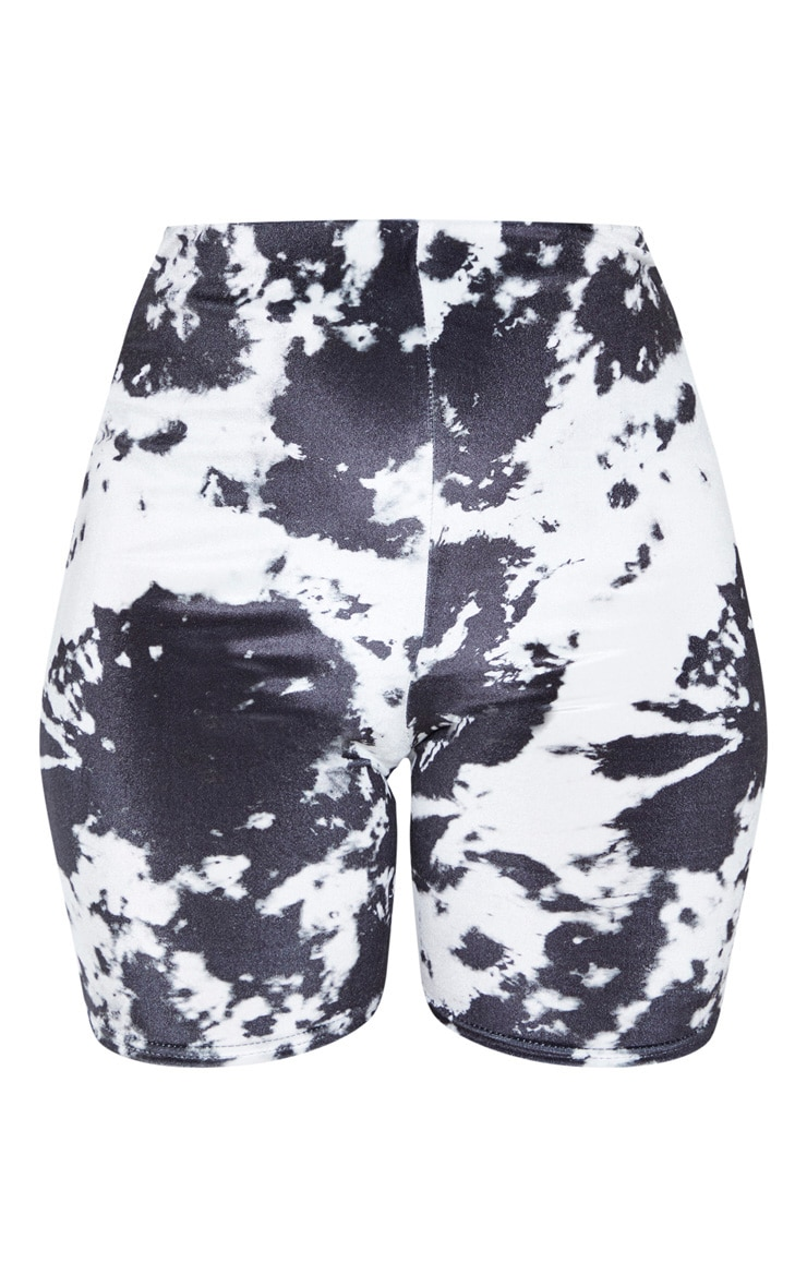 Black Velvet Tie Dye Bike Shorts 3