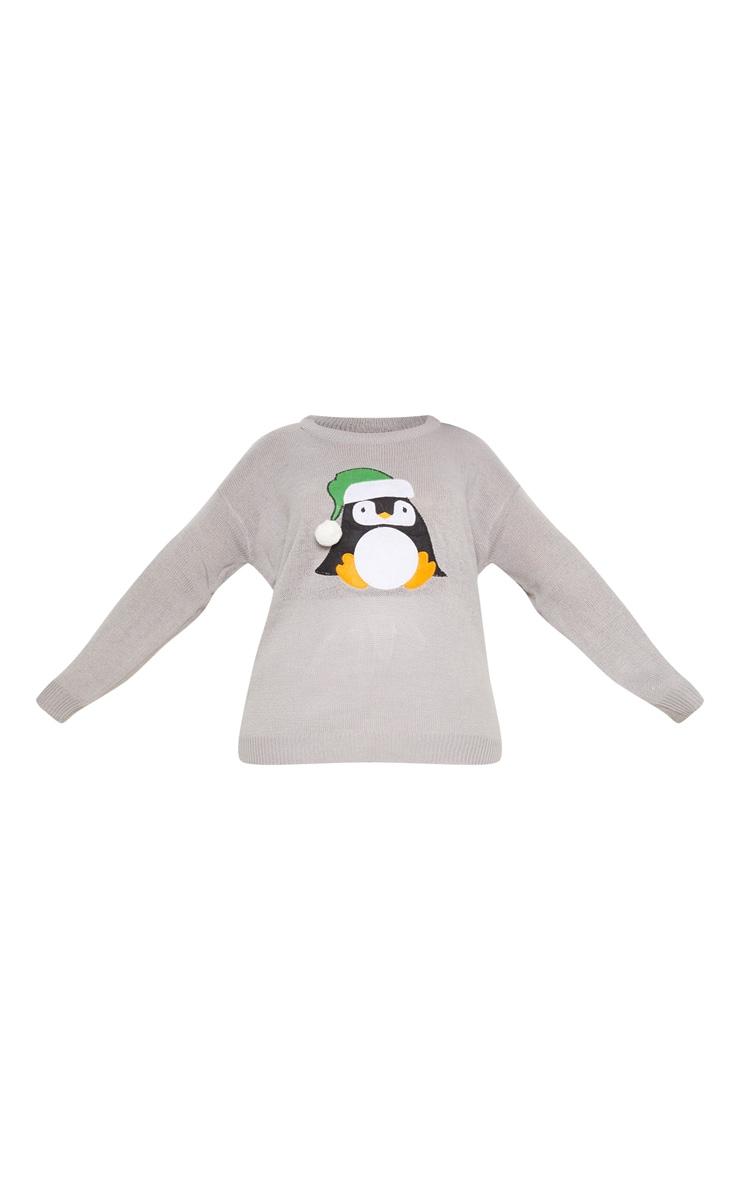 Plus Grey Penguin Pom Pom Sweater 3