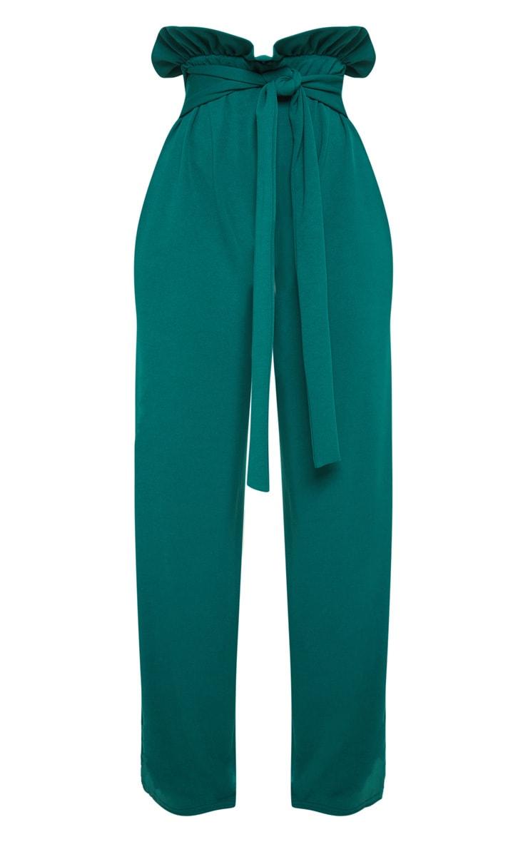 Shape Emerald Green High Waist Paperbag Wide Leg Trouser 3