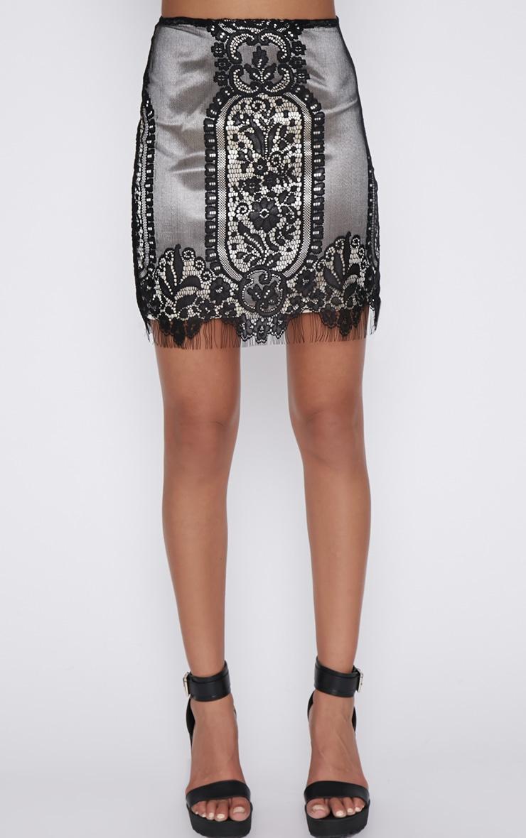 Mei Black Lace Mini Skirt 4