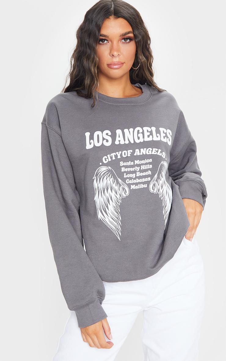 Grey Los Angeles Wing Printed Sweatshirt 1