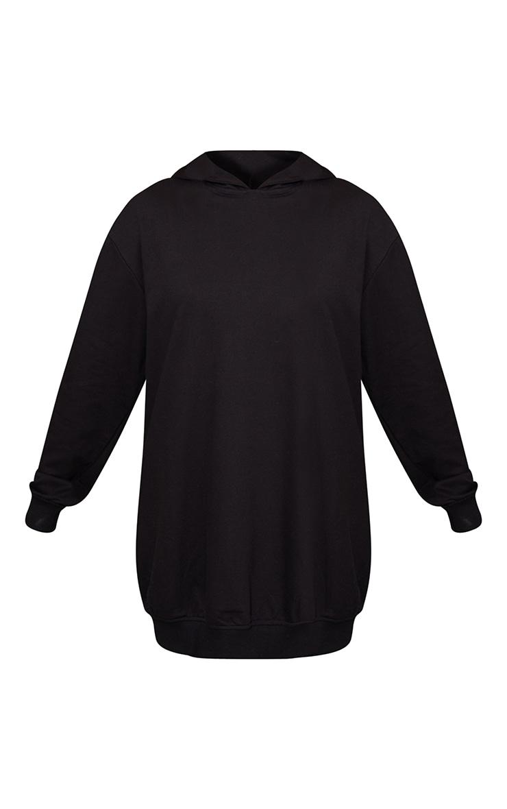 Black Oversized Hoodie Sweat Jumper Dress 5