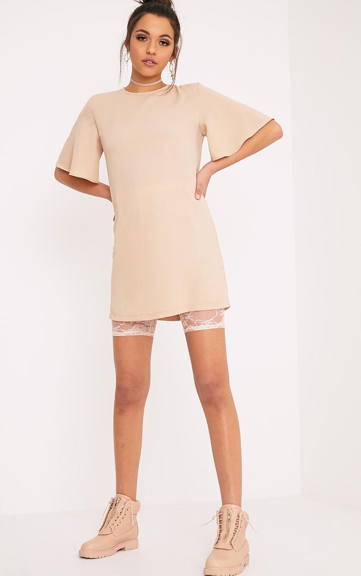 Ashanti Nude Short Sleeve Shift Dress 4