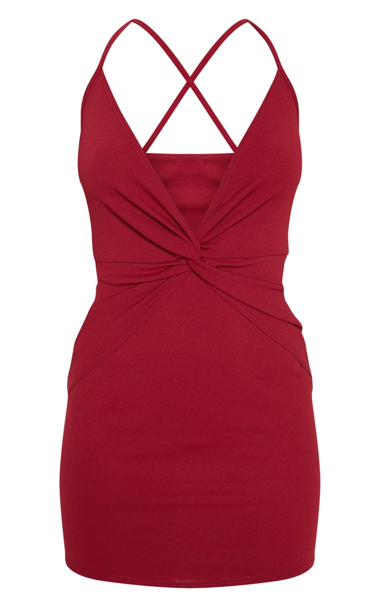 Scarlet Strappy Knot Front Bodycon Dress 3