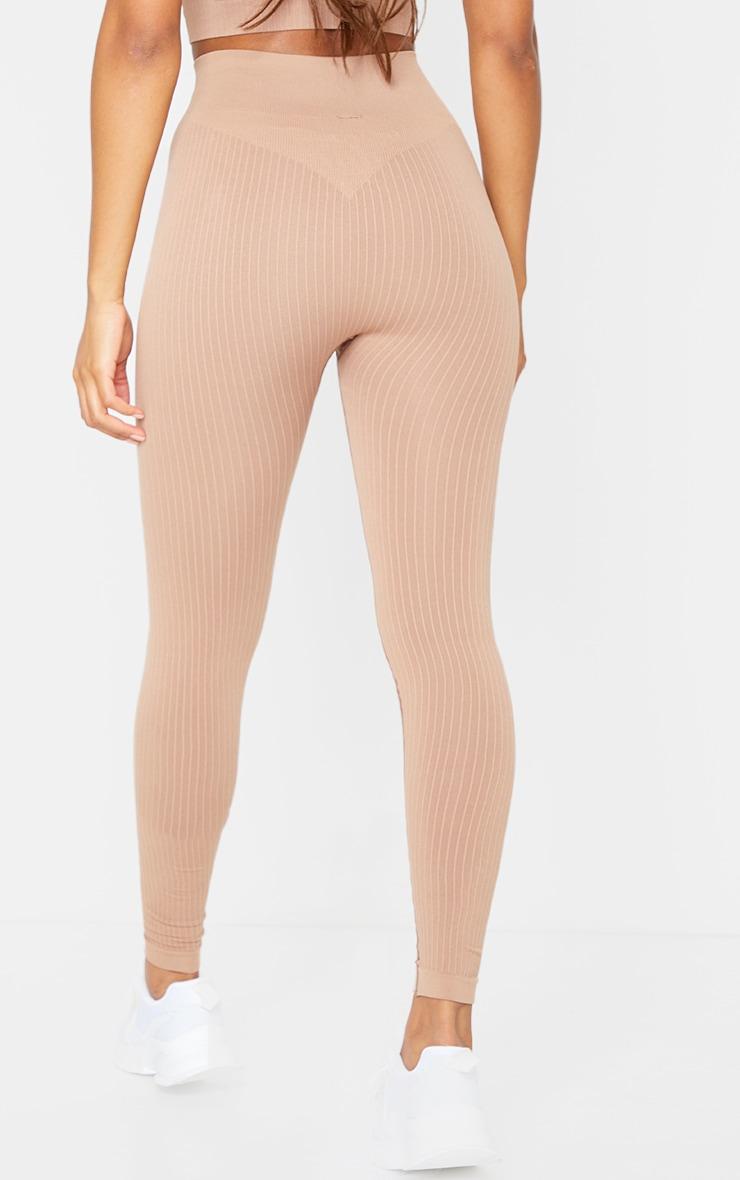 Nude Premium Ribbed Seamless Legging 3