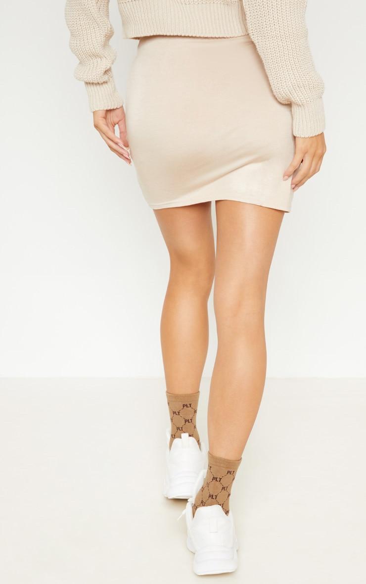 Deep Stone Basic Jersey Mini Skirt 4