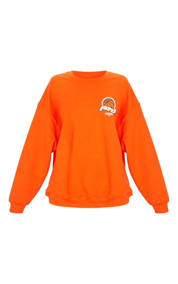 Orange Basketball Varsity Sweatshirt 5