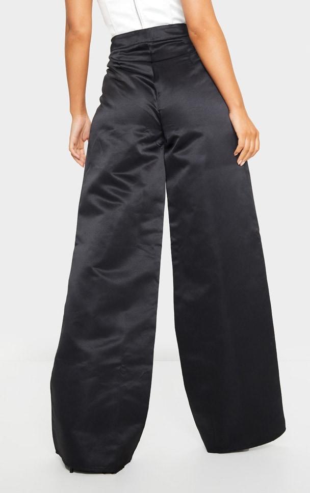 Black Pleat Detail Extreme Leg Trousers 3