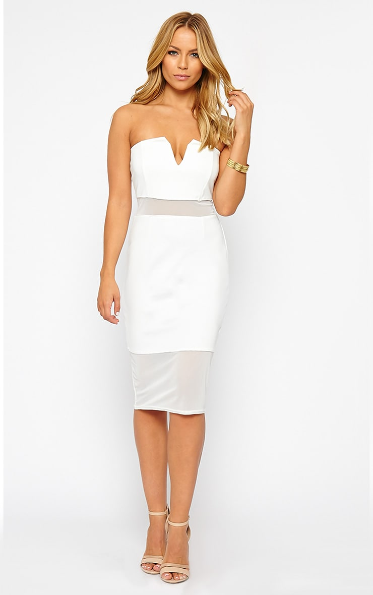 Janelle White Mesh Bandeau Dress 1