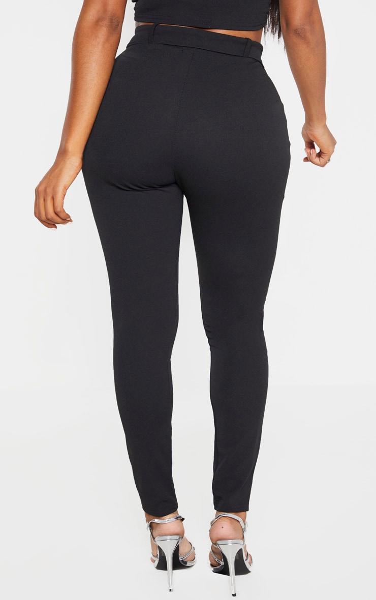 Shape Black Belted Tapered Pants 4