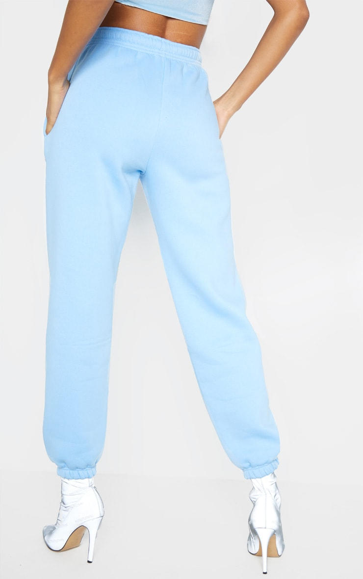 PRETTYLITTLETHING Pastel Blue Embroidered Jogger 4