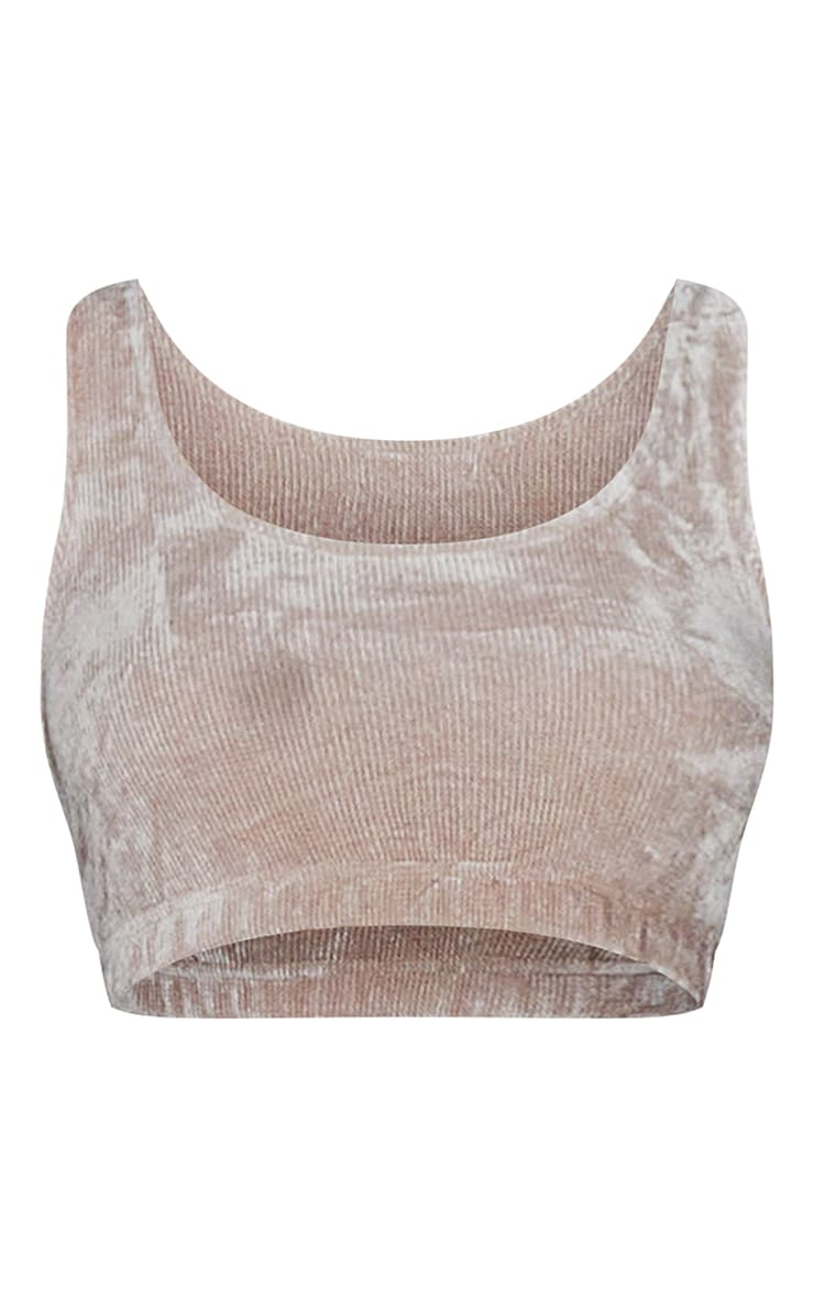Taupe Mix And Match Luxe Rib Velour PJ Bralet 5