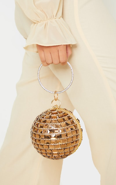 Rose Gold Gemstone Sphere Bag