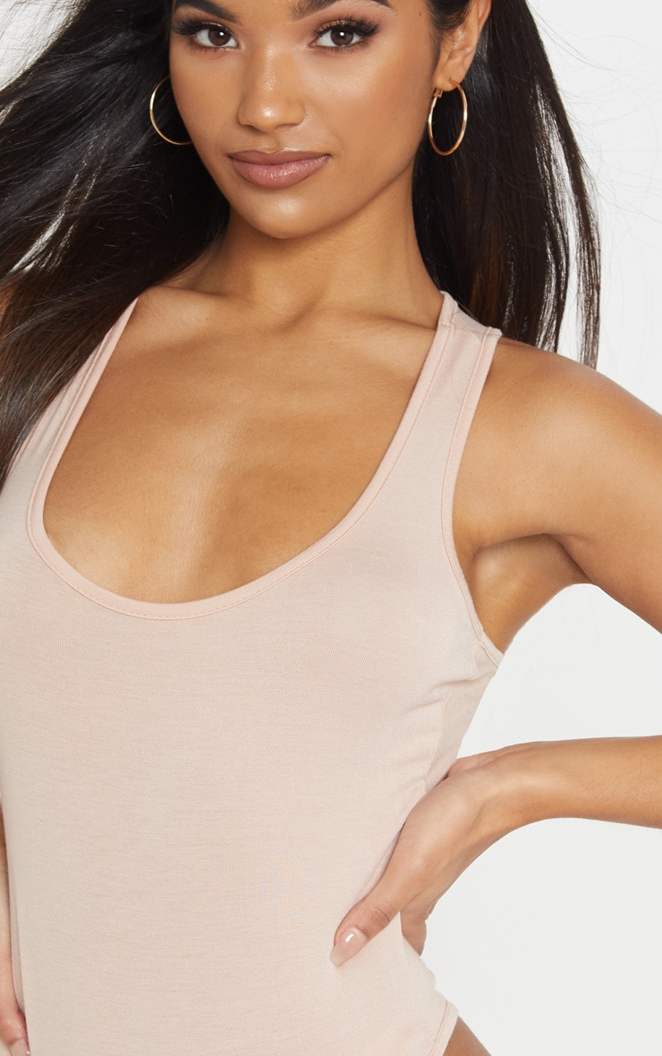 Basic Nude Racer Back Bodysuit 6