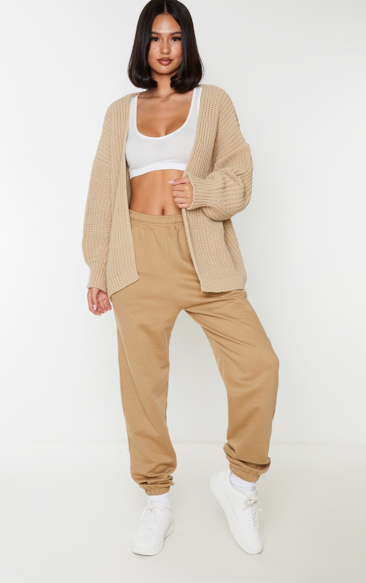 Camel Chunky Knit Slouchy Cardigan 3