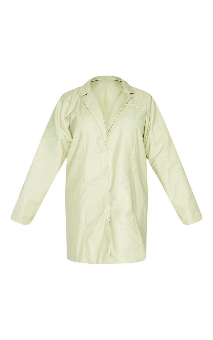 Plus Sage Green Oversized Blazer Dress 5