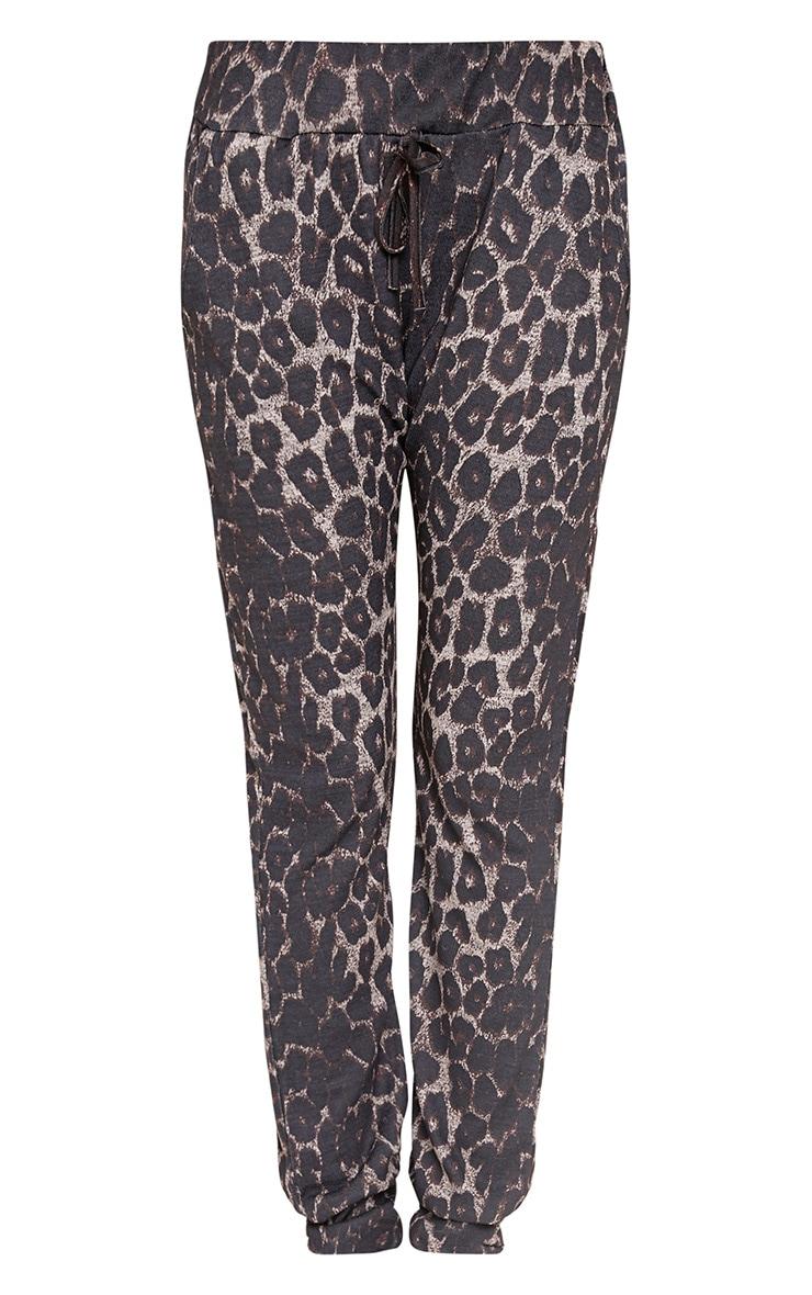 Sofiee Black Leopard Print Joggers 3