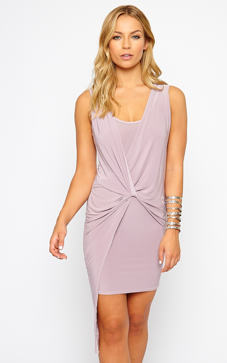 Stacie Mauve Knot Detail Dress 1