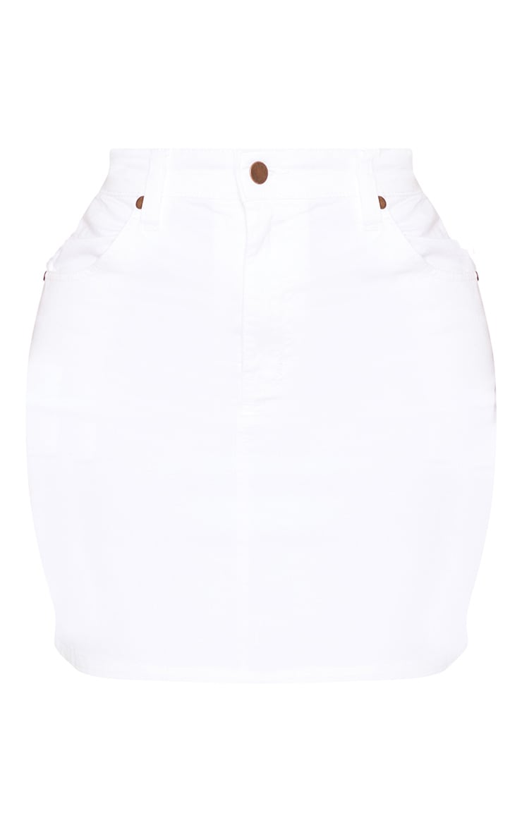 Shape White Denim Mini Skirt  3