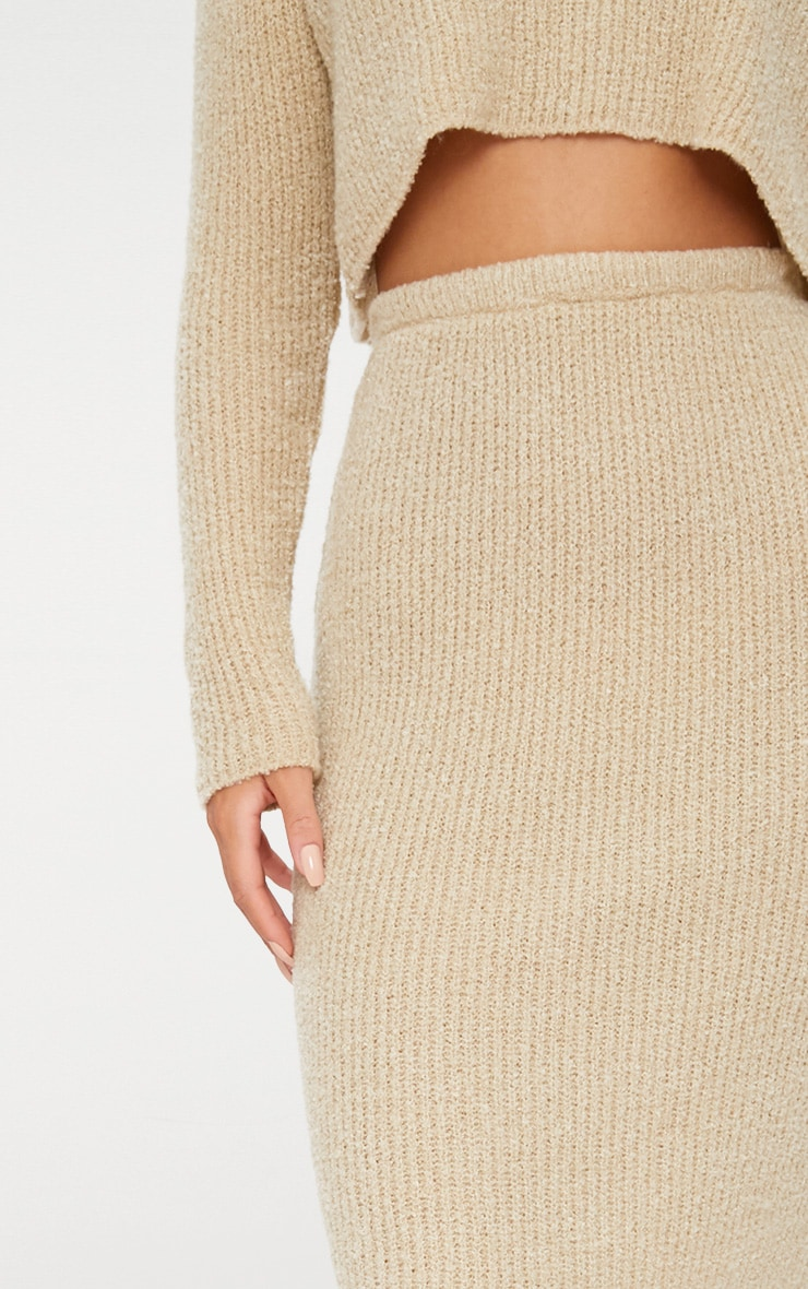 Stone Boucle Knit Skirt 5