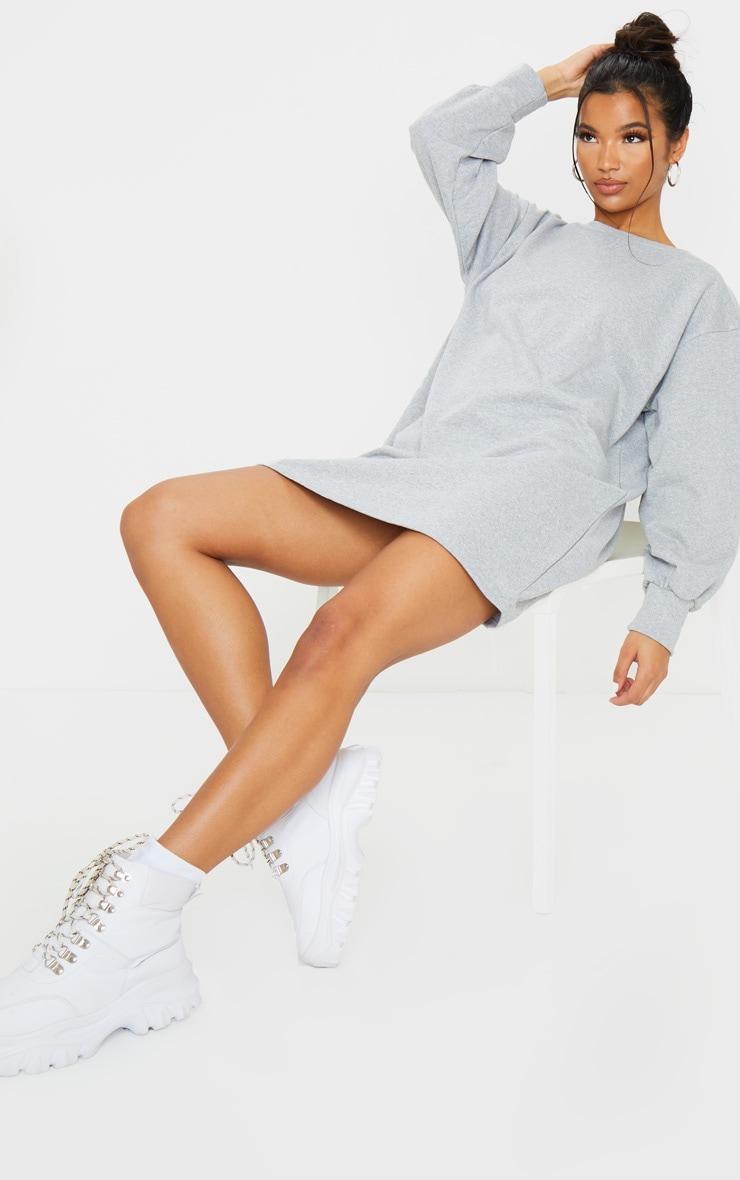 Grey Oversized Sweater Dress 1