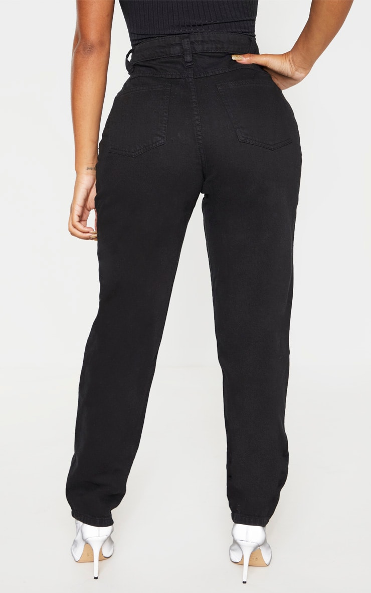Shape Black Mom Jeans 4