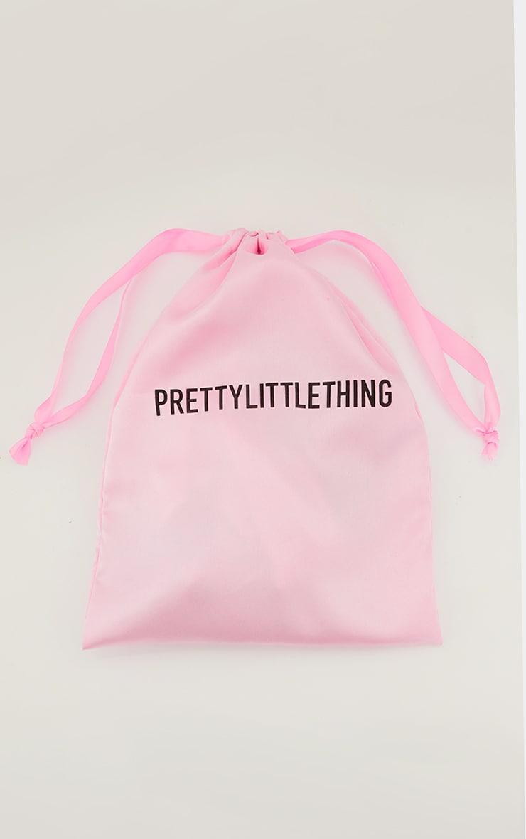 PRETTYLITTLETHING Satin Makeup Headband with Pink Facial Roller & Sleep Mask 3