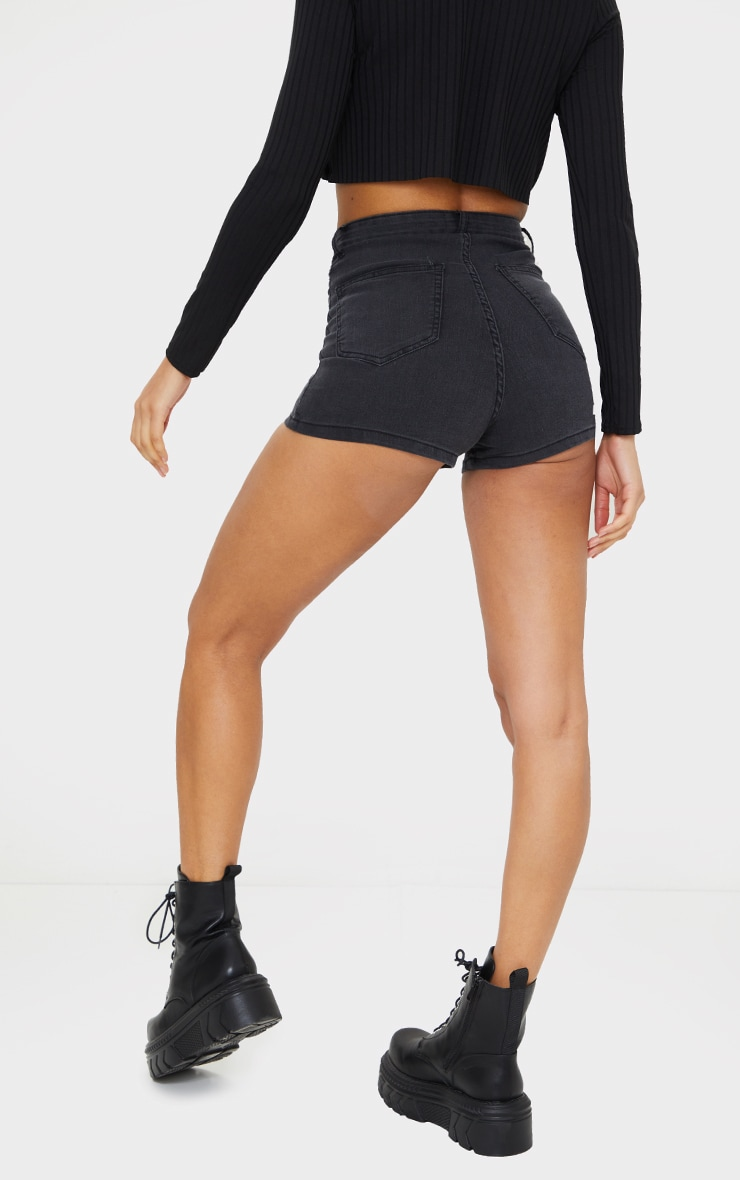 Washed Black Disco Short  3