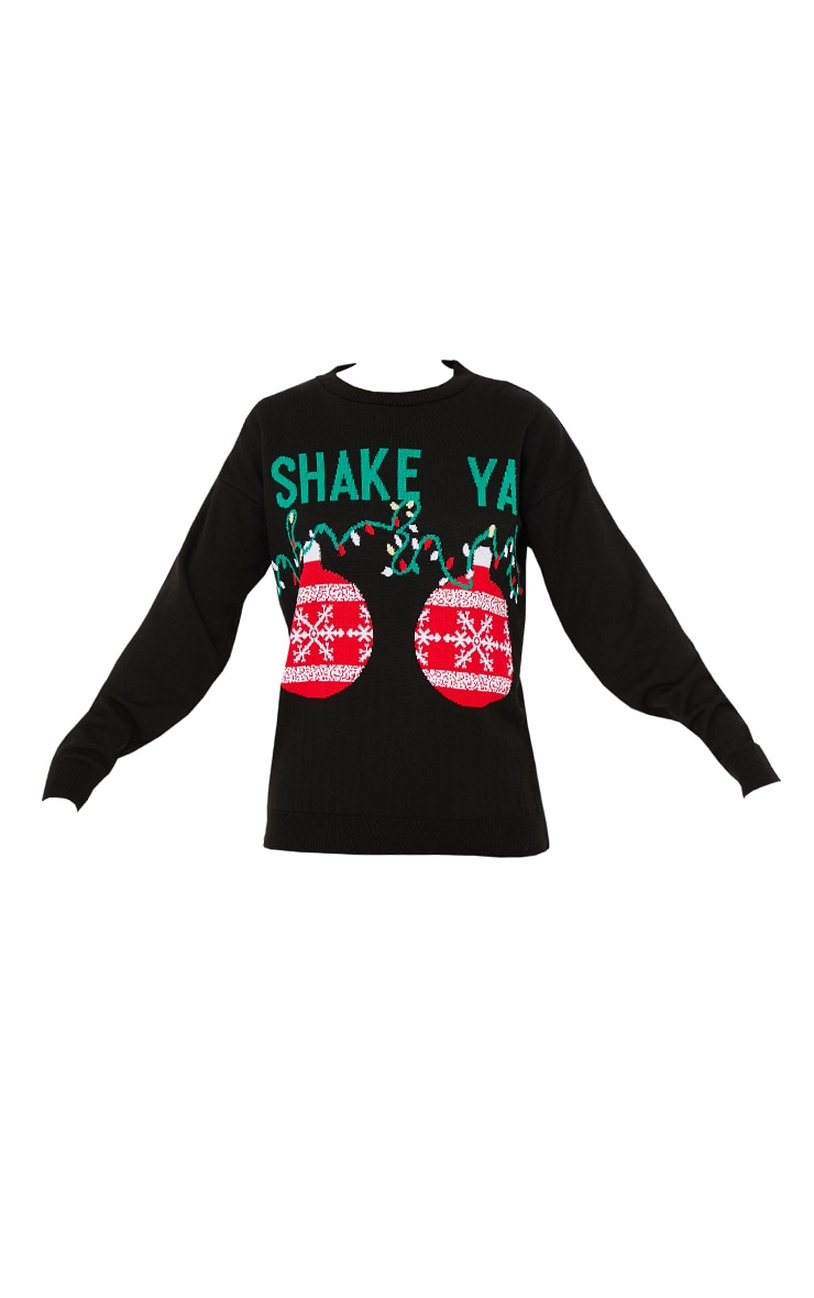 Black Shake Ya Xmas Jumper 5