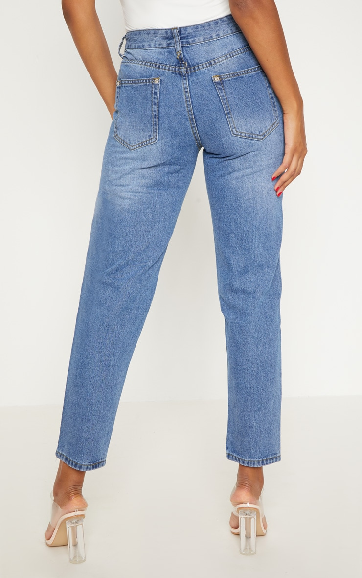 Low Rise Boyfriend Mid Wash Jean 4