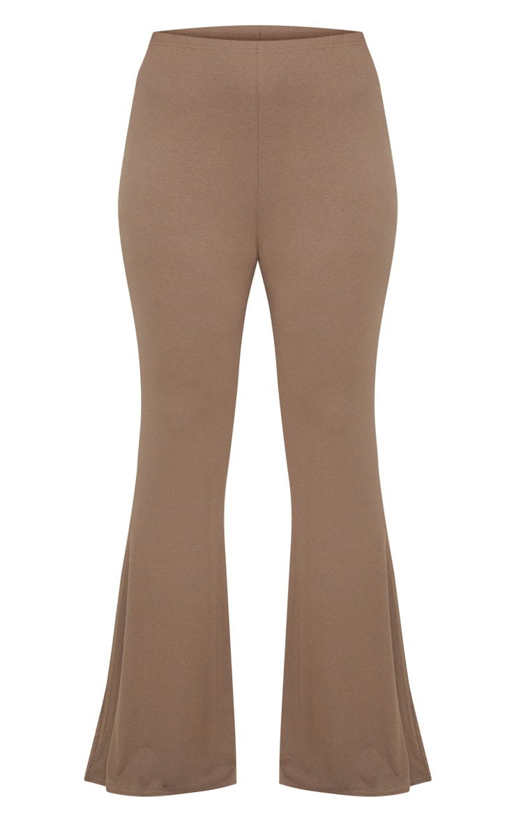 Plus Mocha Basic Flared Trousers 3
