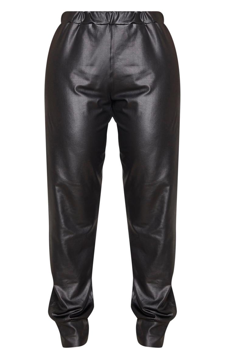 Shape - Pantalon noir enduit à bas resserré 3