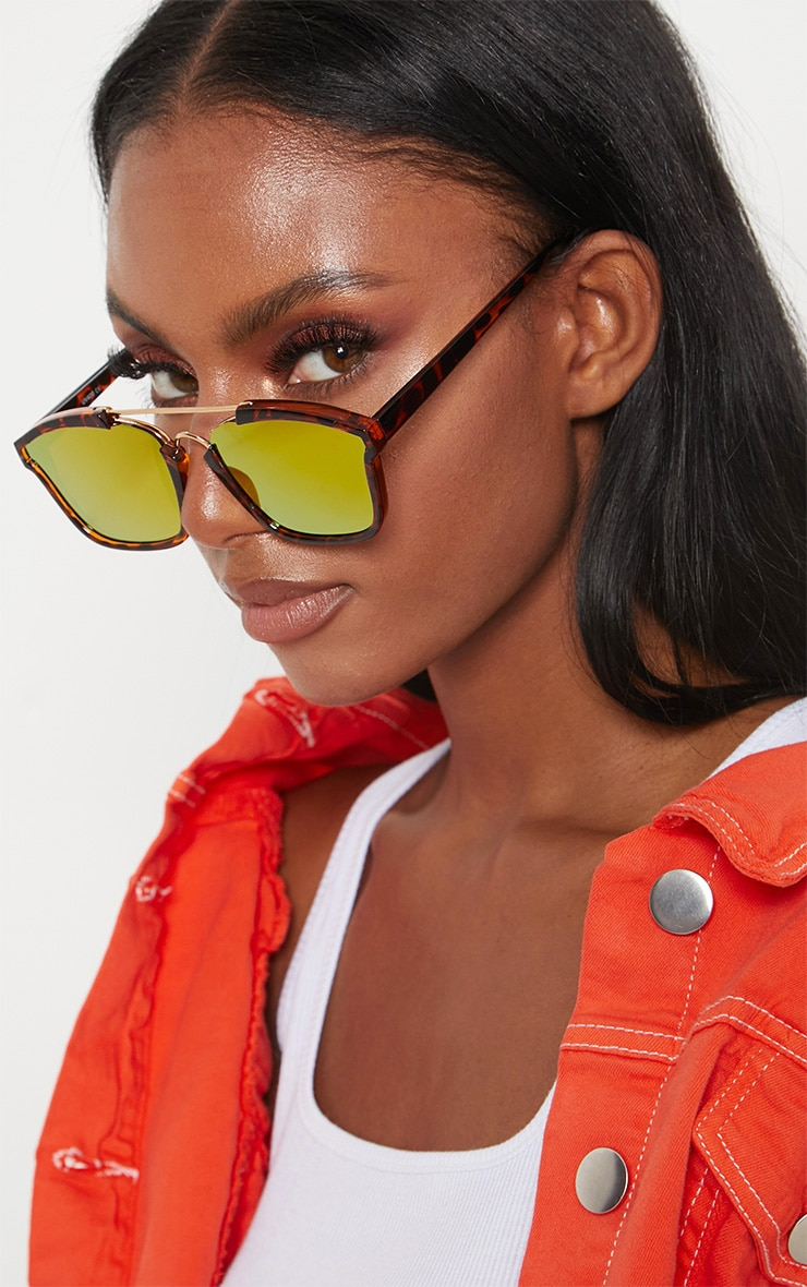 Tortoise Shell Brow Bar Sunglasses