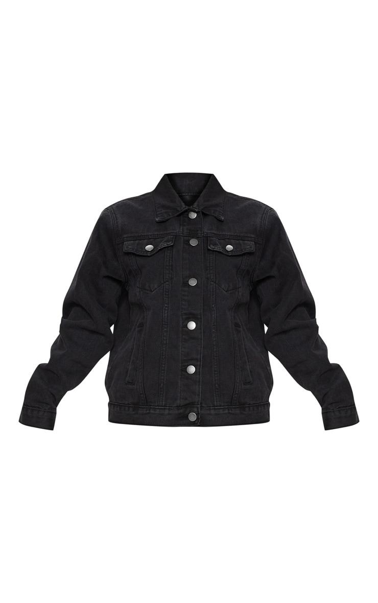 Petite Black Denim Ripped Elbow Jacket 3