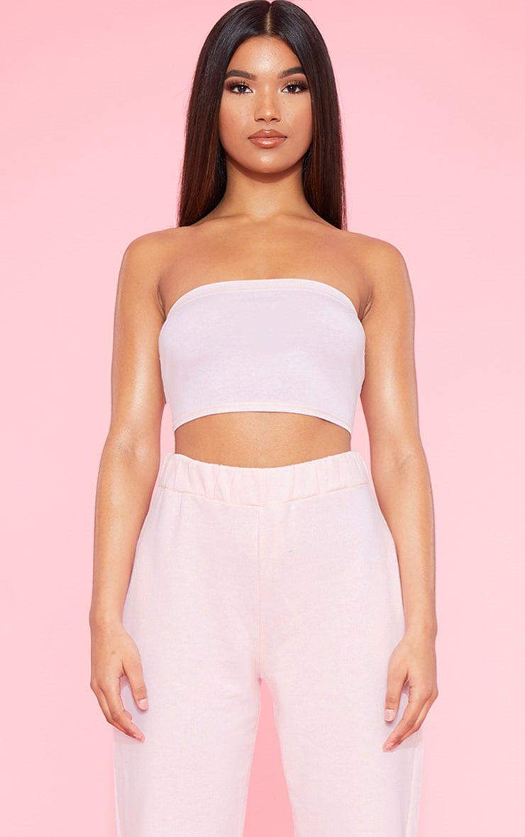 RECYCLED Blush Bandeau Crop Top 1