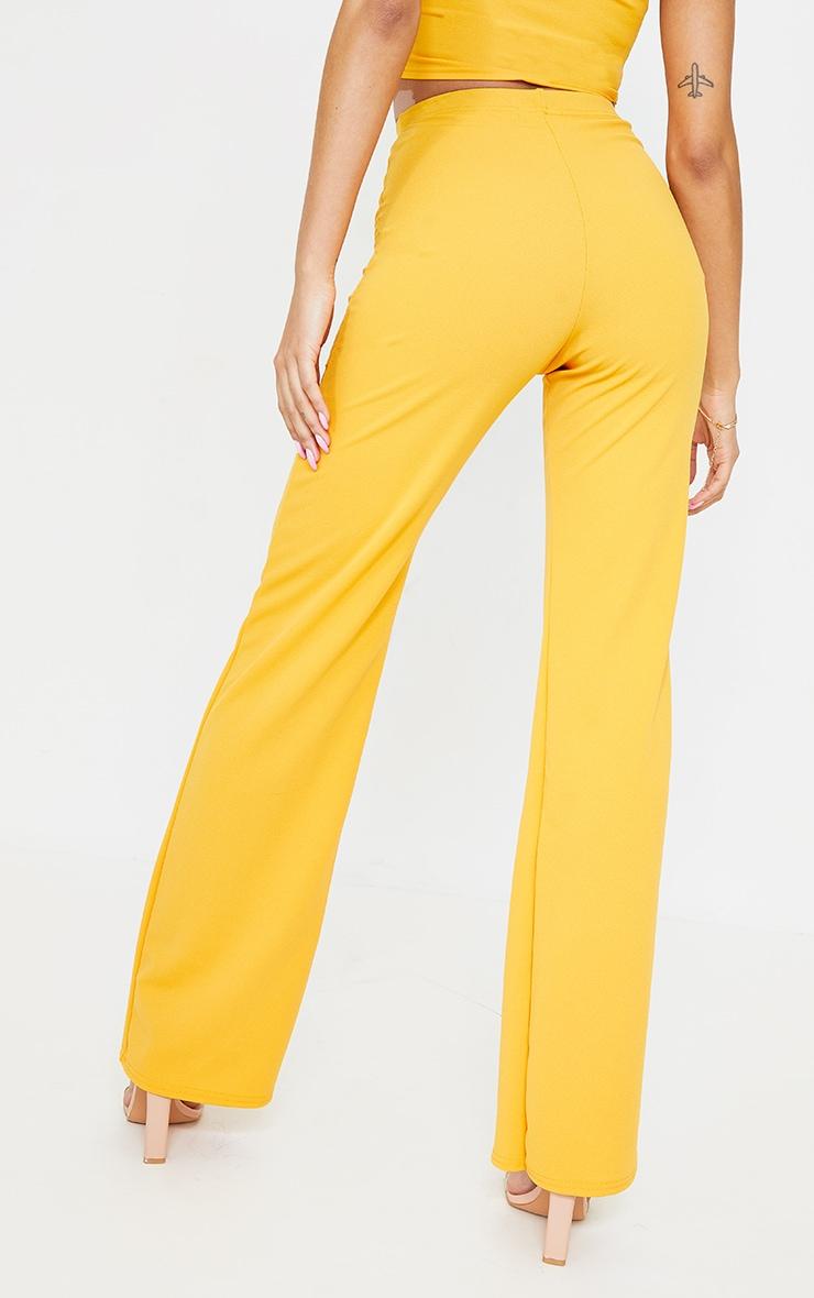 Orange Crepe High Waisted Wide Leg Trousers 3