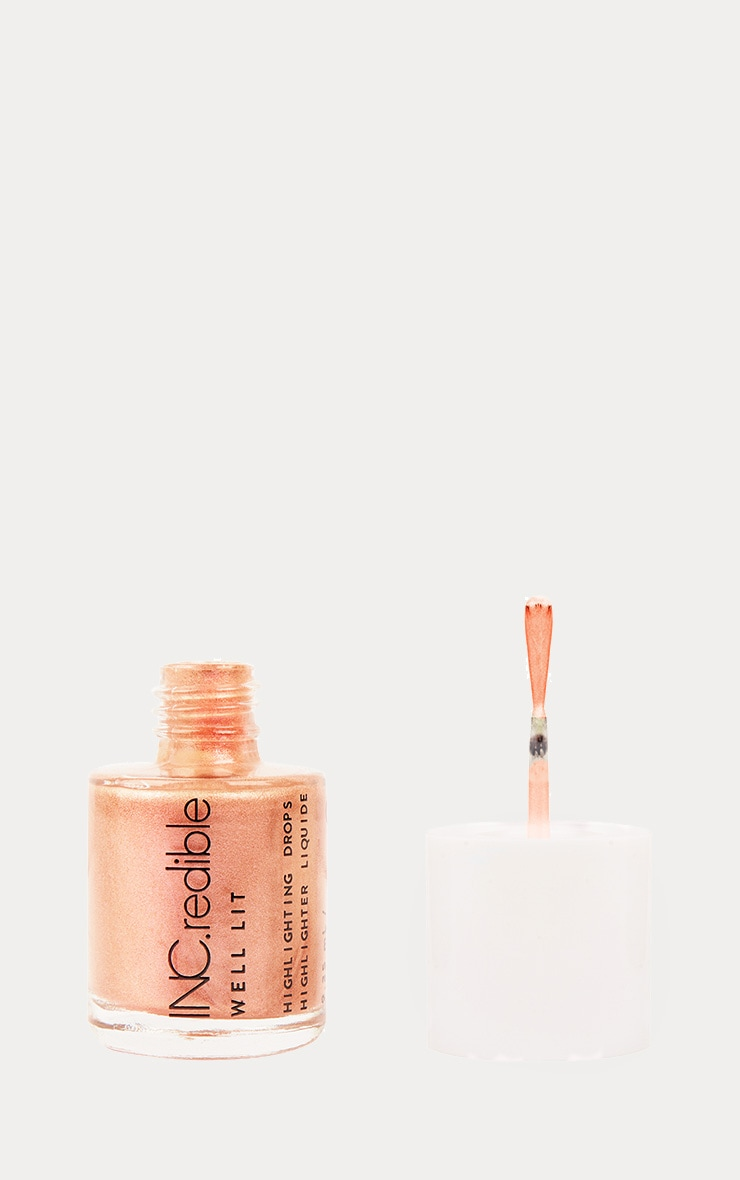 INCredible Well Lit Rose Gold Liquid Highlighter 2