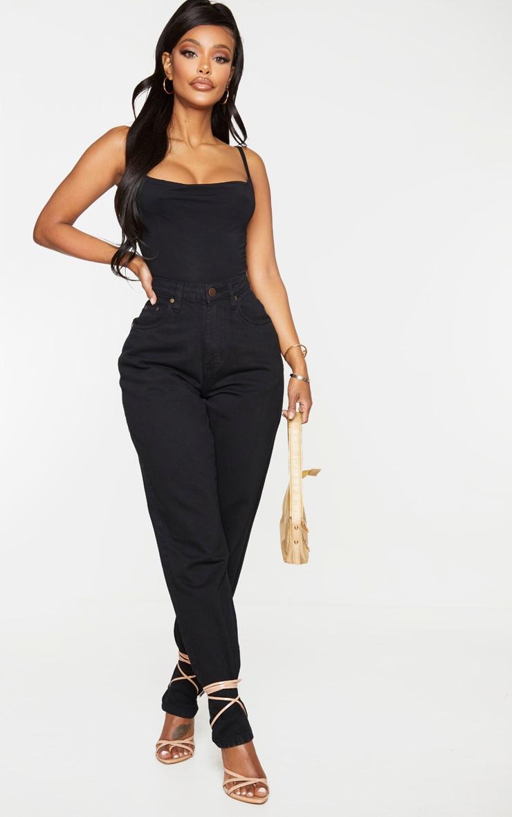 Shape Black Jersey Cowl Neck Bodysuit 3