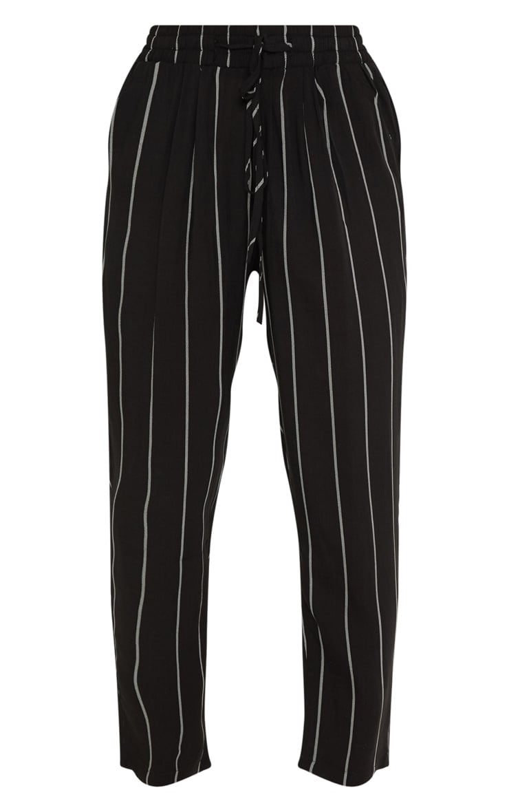Petite Monochrome Stripe Casual Trousers 3