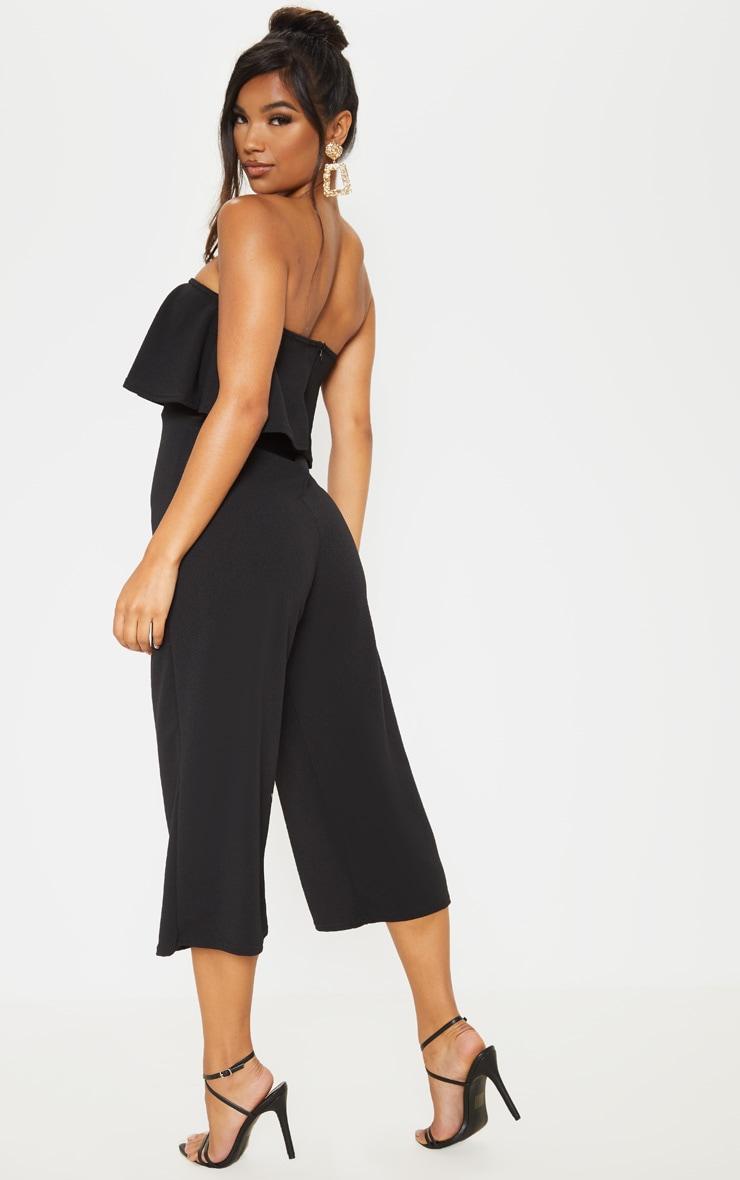 Combinaison jupe-culotte bardot double épaisseur noire 2