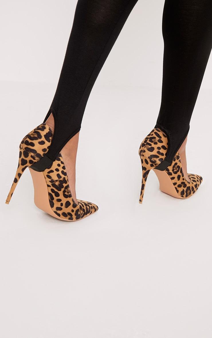 Basic Black Jersey Stirrup Leggings 5