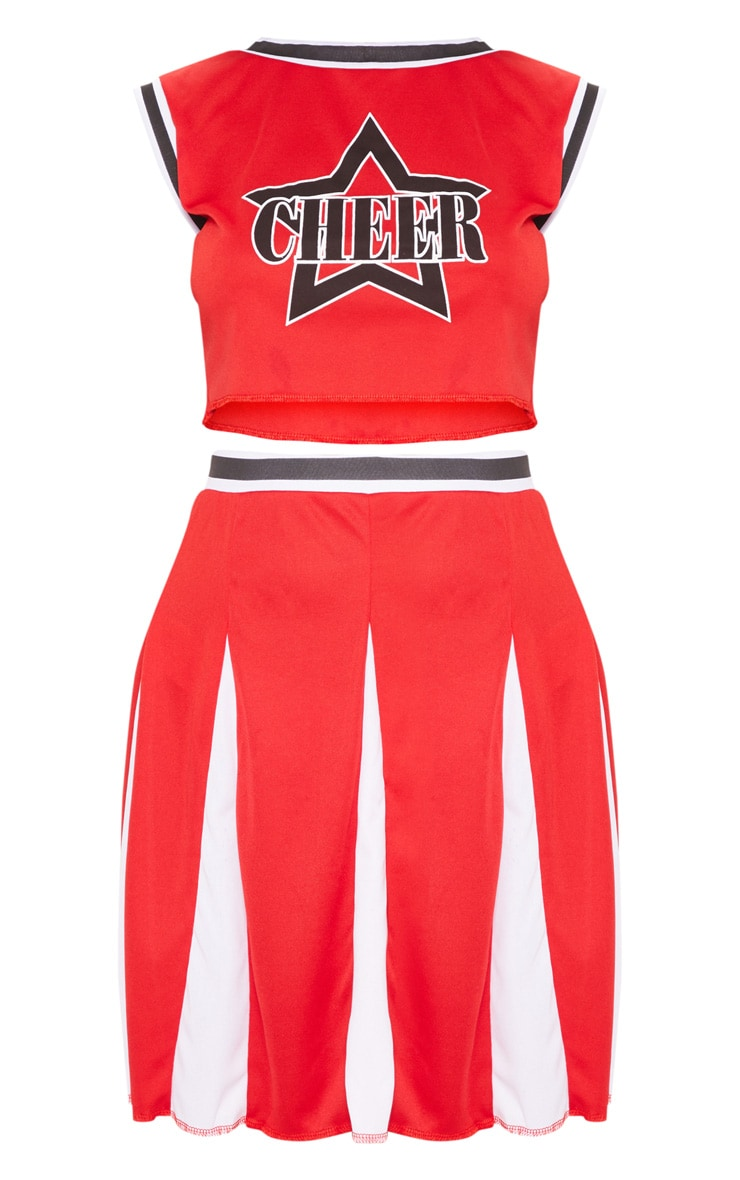 Cheerleader Halloween Fancy Dress Outfit 3