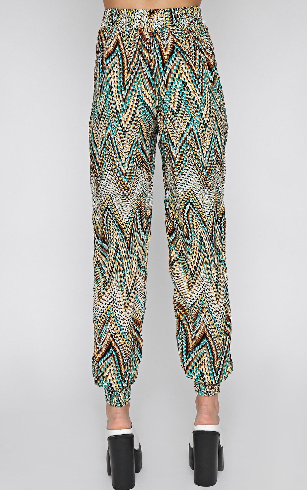 Nahla Green Print Harem Trouser 2