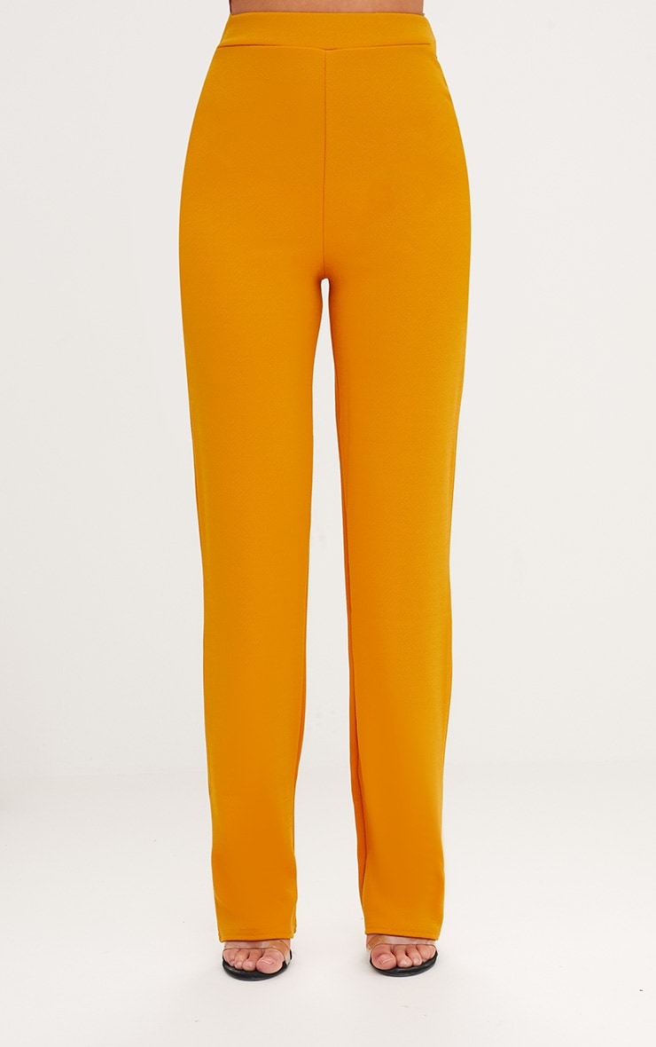 Mustard Straight Leg Suit Trousers 2